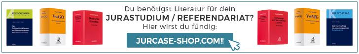 JurCase-Shop.com - Hier bekommst du deine Literatur für Jurastudium und Referendariat!