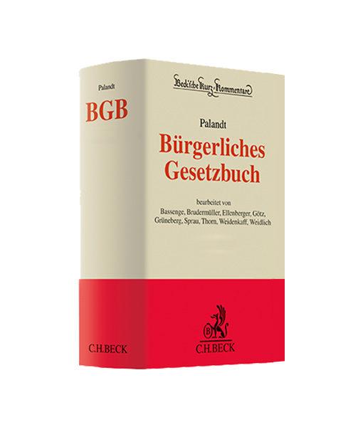 """JurCase-Shop.com Kommentare kaufen Palandt """"BGB - Bürgerliches Gesetzbuch"""""""