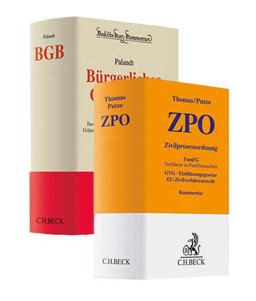 """Palandt """"BGB"""" 76. Auflage und Thomas / Putzo """"ZPO"""" 38. Auflage im Vorauflagen-Paket"""