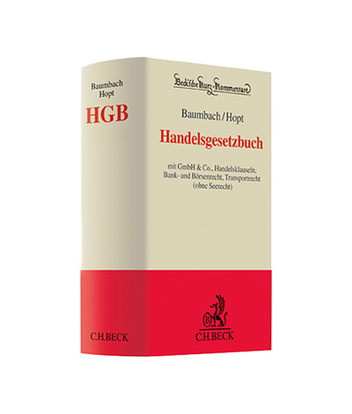 Baumbach Hopt HGB kaufen Handelsgesetzbuch Kommentar im JurCase-Shop