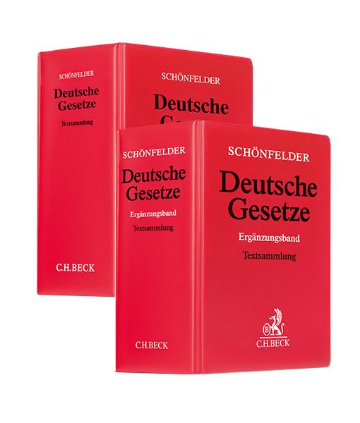 Schönfelder Deutsche Gesetze kaufen - Ergänzungsband - Gesetzestext im JurCase-Shop