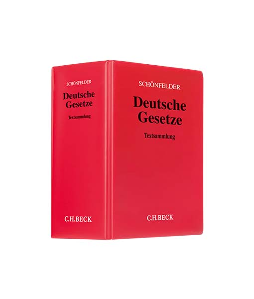Schönfelder Deutsche Gesetze in der 173. Auflage