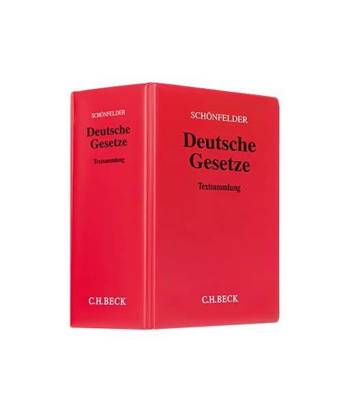 Schönfelder Deutsche Gesetze in der 174. Auflage kaufen Gesetzestext JurCase-Shop