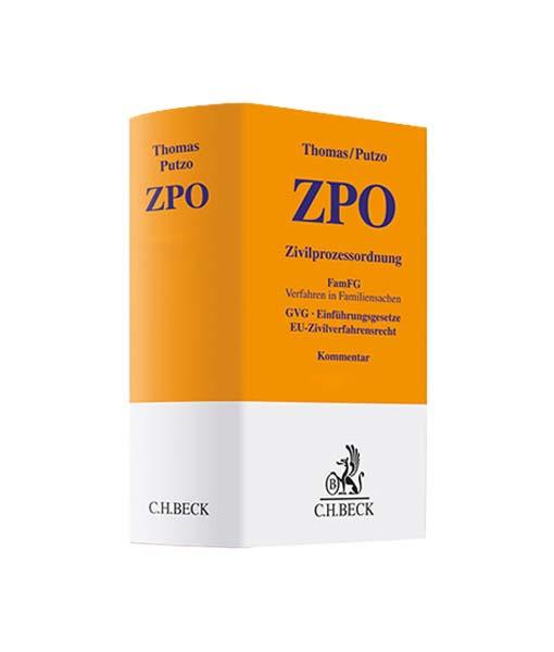 Thomas/Putzo ZPO 40. Auflage kaufen Zivilprozessordnung-JurCase-Shop