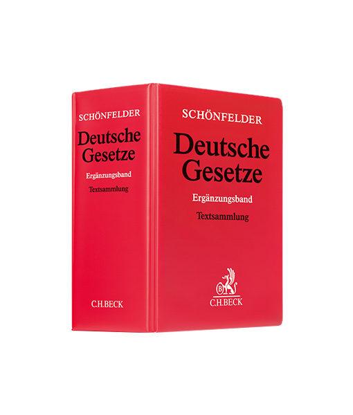 Schönfelder Deutsche Gesetze Ergänzungsband in der 59. Auflage JurCase.com