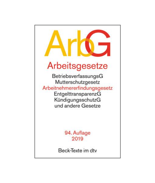 JurCase-Shop_Arbeitsgesetze_DTV-Beck_94.-Auflage-2019-2