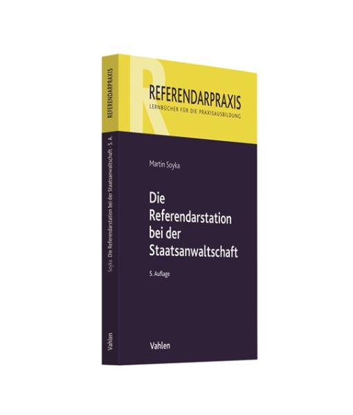 Referendarstation Staatsanwaltschaft 5 Auflage
