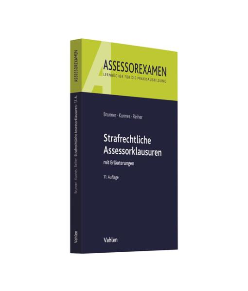 Assessorexamen Brunner Kunnes Reiher 11 Auflage Assessorklausuren