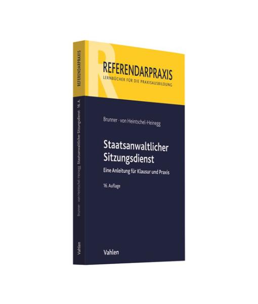 Referendarpraxis Brunner Heintschel Heinegg Sitzungsdienst 16 Auflage
