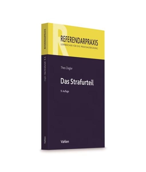 Referendarpraxis-Theo-Ziegler-Strafurteil-9-Auflage-Vahlen